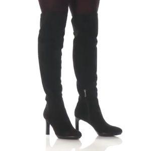 Aquatalia Black Suede Over-The-Knee Boot. 11